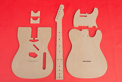 """Telecaster Guitar Router Templates for Bound Top Body and Neck CNC TELE 1/2"""" MDF"""