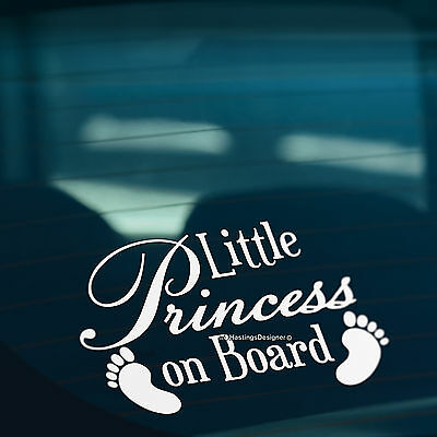 BABY FEET LITTLE PRINCESS ON BOARD Funny Car,Bumper,Window Vinyl Decal Sticker