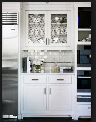 Cabinet Glass -   for new & existing  Kitchen doors ( diamond design )