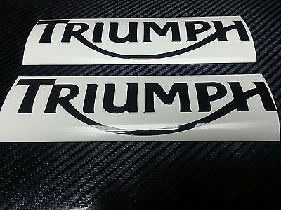 2 x Triumph Speed Triple Black Reflective motorcycle sticker decal motorbike