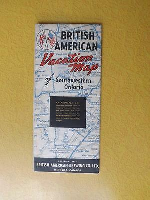 Animated Map British American Brewing Company Vacation Southwestern Ontario 1947