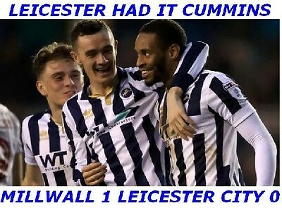 Millwall 1 Leicester City 0 The New Den   Three FA Cup  Jumbo Fridge Magnets