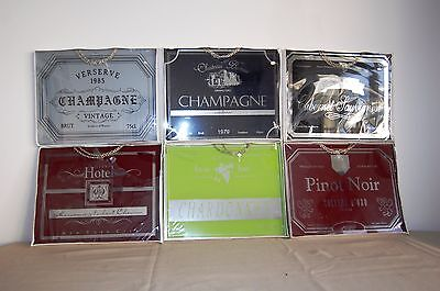 Lot of 6 Wine signs Great for Man Cave or Wine Cellar