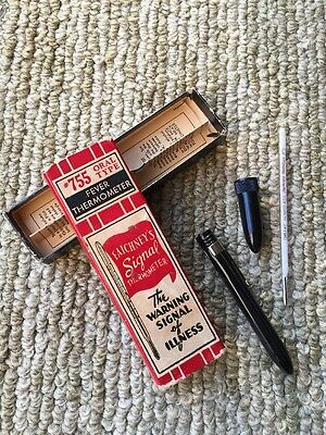vintage Faichney's Fever Thermometer #755 Oral Type w/ Box Tube