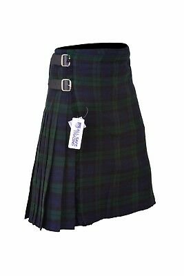 Black Watch Men's 8 Yard Deluxe Scottish Tartan Kilt, Highland Wedding Kilt