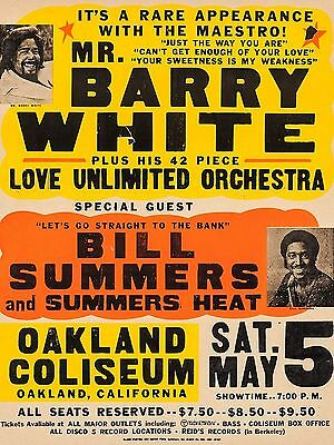 "Barry White Oakland 16"" x 12"" Reproduction Concert Poster Photo"