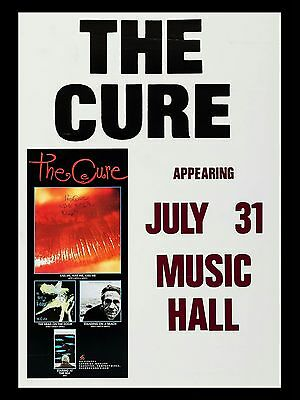 "The Cure Music Hall 16"" x 12"" Reproduction Concert Poster Photo"