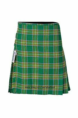 Irish Heritage Men's 8 Yard Deluxe Scottish Tartan Kilt, Highland Wedding Kilt