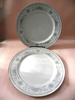 """A Pair of American Limoges Salem Heritage """"Bridal Bouquet"""" Dinner Plates"""