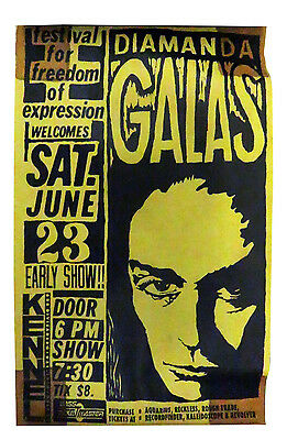 Diamanda Galas No More Tickets / Give Me Sodomy Flyer Early 1990s