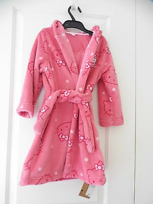 Hello Kitty Baby Girl Dressing Gown Size 18-24Mths Bnwt