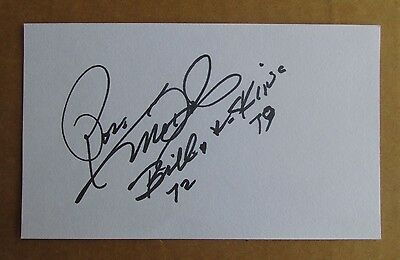 RON McDOLE SIGNED AUTOGRAPH 3X5 INDEX CARD 2X AFL CHAMPION BUFFALO BILLS REDSKIN