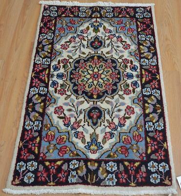 1'9 x 3'3 Beautiful Authentic Persian Kerman Hand Knotted Oriental Wool Area Rug