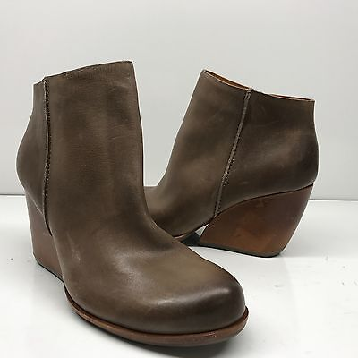 NEW Kork Ease Natalya Burnished Leather Demi Wedge Boot US Size 9M