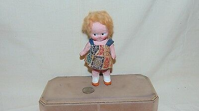 """Vintage Bisque Doll 6"""" Tall"""