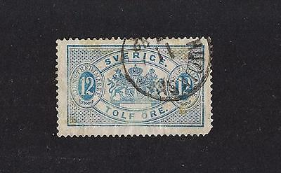 Sweden 1874 official O34a used