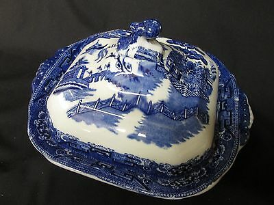 Adderley British Porcelain  Willow Pattern Tureen With Lid   1920/26