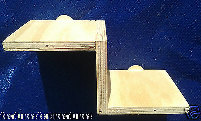 Pine Plywood Ladder Stairs With 2 X Steps For Cage Of Chinchilla,rat,degu,ferret