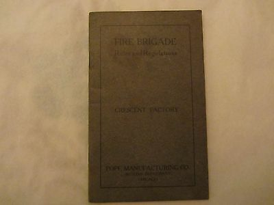 Antique 1904 Pope Manufacturing Fire Brigade Rules Booklet - Columbia Bicycles