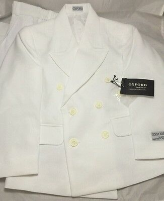 Oxford By Lida  California U.S.A White Suits Boys Size  5R 22.5W