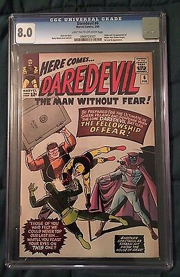 Daredevil #6 (1964) CGC 8.0 - LIGHT TAN to OFF-WHITE Pages - Crack in case