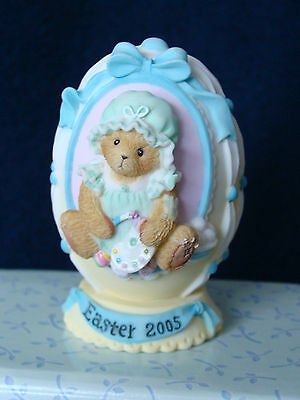 Cherished Teddies Easter Egg (Abbey Press) - Girl With Paint - 0000368 - 2005