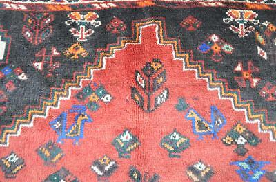 5'7x8'1 Fine Genuine Persian Tribal Animal Shiraz Bolvardi Hand Knotted Wool Rug