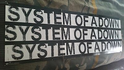 System Of A Down 1998 Debut Rare 2 Sided Promo 12x36