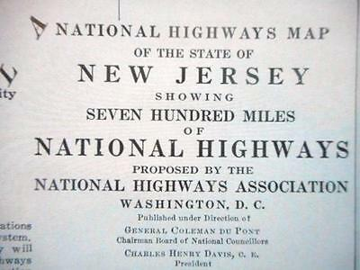 Proposed 1914 New Jersey National Highways Association Map