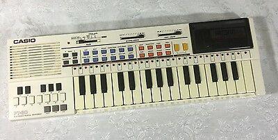 "Vintage 1980s 17"" CASIO PT 80 Electronic Musical Keyboard World Songs Rom Pack"