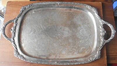 9496 Heritage Pattern 1847 Rogers Bros IS Silver Plated Tray
