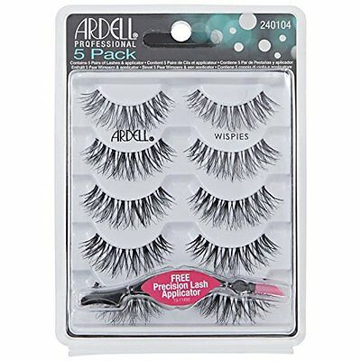Ardell Lashes WISPIES 5 Pack with FREE Precision Lash Applicator 240104 UK SELL