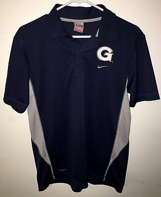 Men's Nike Fit Dry Georgetown Hoyas Polo Shirt Navy and Gray Size Small