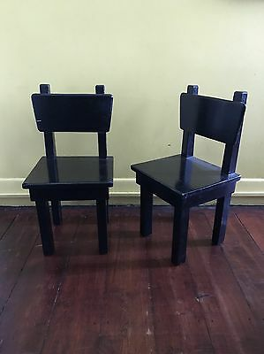 Solid Wood Children's chairs (set of 2)