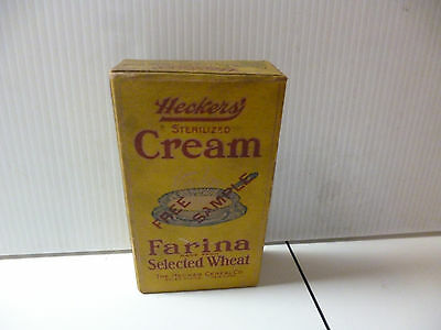 Hecker Cereal Cream Farina From Wheat Antique Free Sample Box Empty