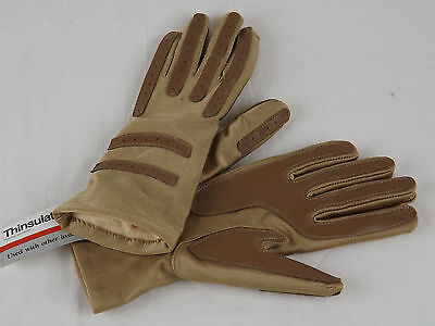 WOMEN'S GLOVES 3M THINSULATE Brown Tan One Size Fits All New
