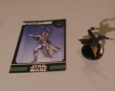 Star Wars Miniatures 2005 Universe LUKE SKYWALKER JEDI 53/60 with Card Very Rare