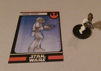 Star Wars Miniatures 2005 Universe ADMIRAL ACKBAR 43/60 with Card Very Rare