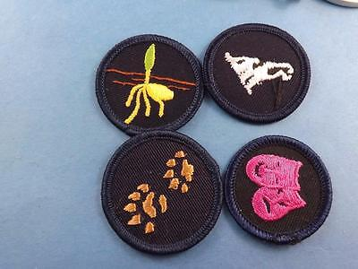 Girl Guides Canada  Merit  Patch 4 Piece Lot Collector