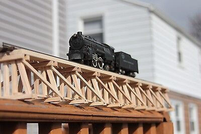 "S Gauge handmade wood trestle bridge 36 1/4"" long for American Flyer etc.."