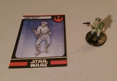 Star Wars Miniatures 2005 Universe PRINCESS LEIA 50/60 with Card Very Rare