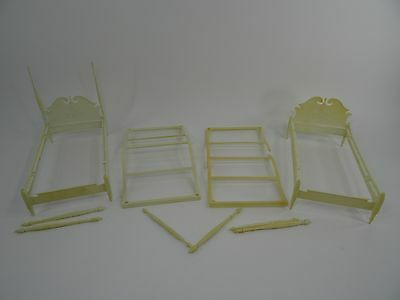 Vintage Suzy Goose Barbie Doll Furniture Canopy Bed Lot Parts Repair