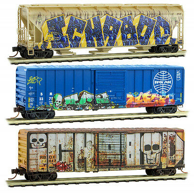MTL Micro-Trains 993 05 350 ICHABOD WEATHERED/Graffiti 3-Pack N Scale