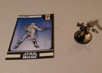 Star Wars Miniatures 2006 Bounty Hunters CALO NORO 23/60 with Card Rare