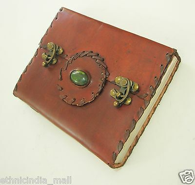 Celtic Leather Journal Blank Diary Grimoire Blank Handmade Book of Shadows Pagan