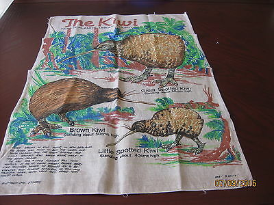 Linen Tea Towel - The Kiwi