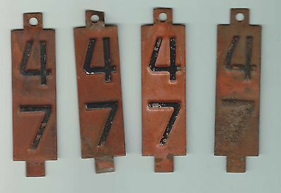 Lot Of 4 - 1947 - Wisconsin - License Plate Tabs