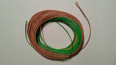FLY LINE PERCEPTION   WF-8F   100FT    2 welded loops    Green/Camo/Tan