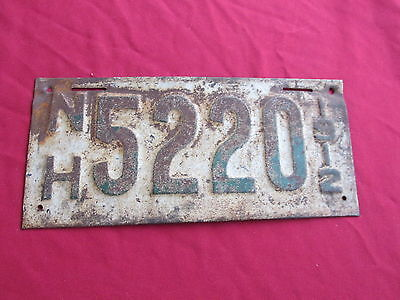 1912 New Hampshire License Plate Vintage Old car NH
