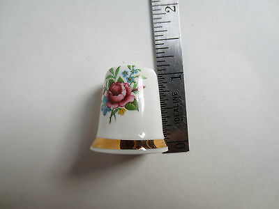 Sandford Bone China Floral Thimble- Made in England